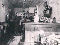 Historical image of Cloverleaf Tavern from 1980's